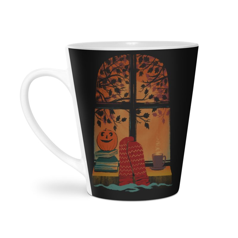 AUTUMN FEELS Accessories Latte Mug by Winterglaze's Artist Shop