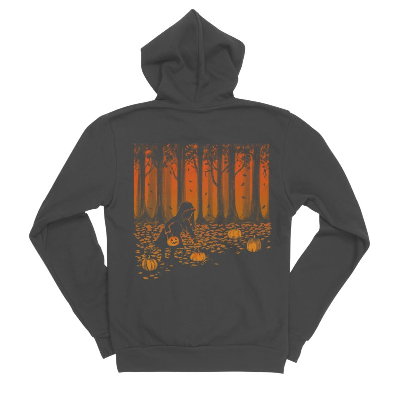 PICKIN' PUMPKIN Women's Sponge Fleece Zip-Up Hoody by Winterglaze's Artist Shop