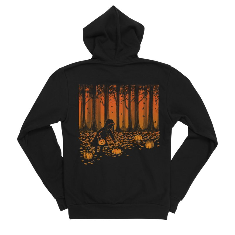 PICKIN' PUMPKIN Men's Sponge Fleece Zip-Up Hoody by Winterglaze's Artist Shop