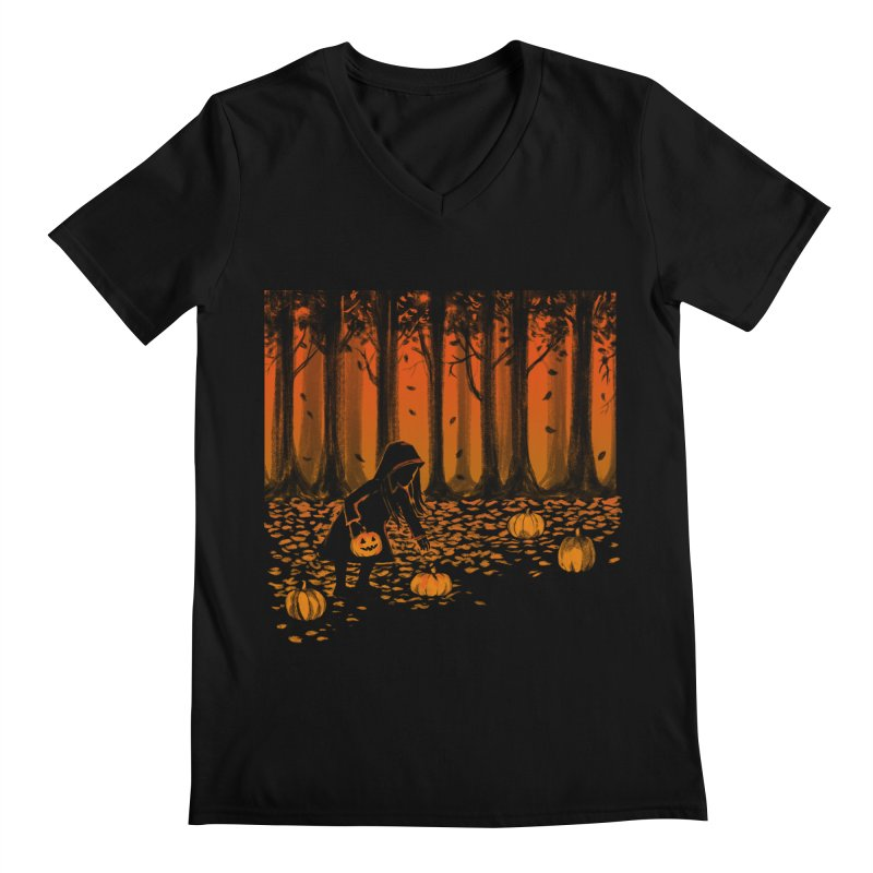 PICKIN' PUMPKIN Men's Regular V-Neck by Winterglaze's Artist Shop