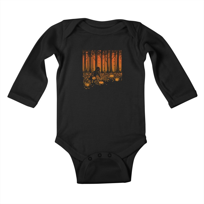 PICKIN' PUMPKIN Kids Baby Longsleeve Bodysuit by Winterglaze's Artist Shop