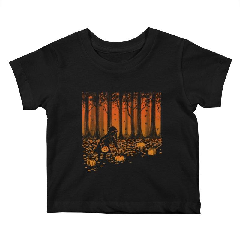 PICKIN' PUMPKIN Kids Baby T-Shirt by Winterglaze's Artist Shop
