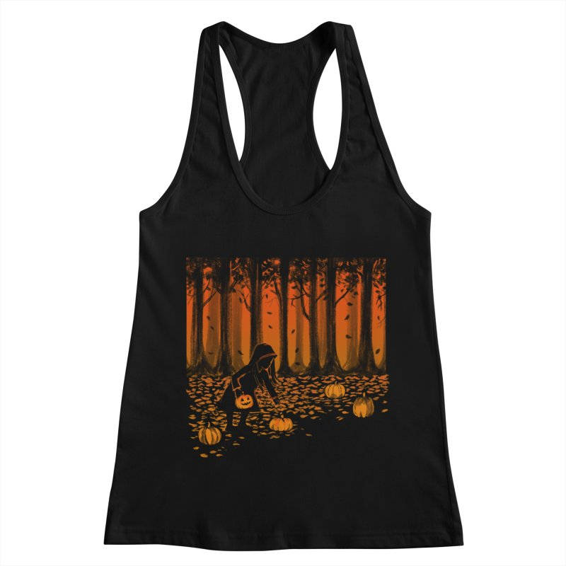 PICKIN' PUMPKIN Women's Racerback Tank by Winterglaze's Artist Shop