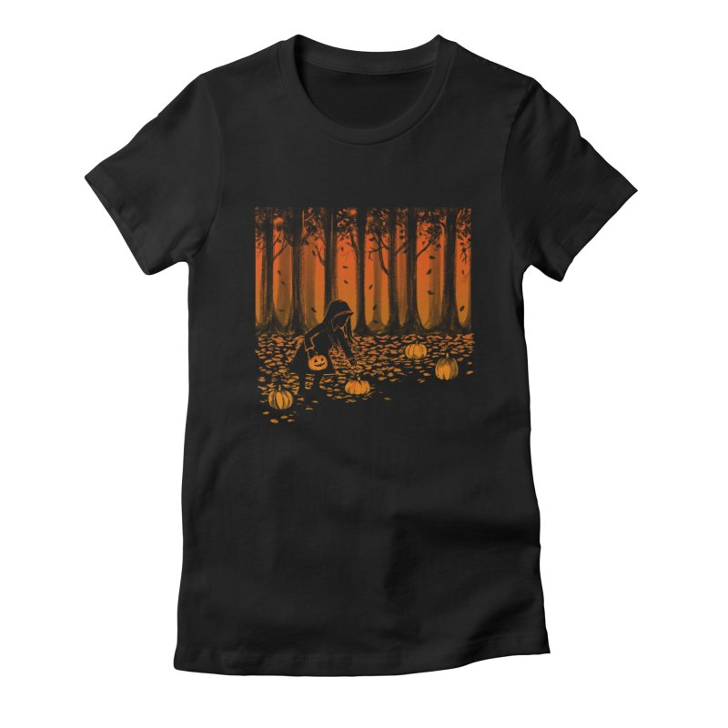 PICKIN' PUMPKIN Women's Fitted T-Shirt by Winterglaze's Artist Shop