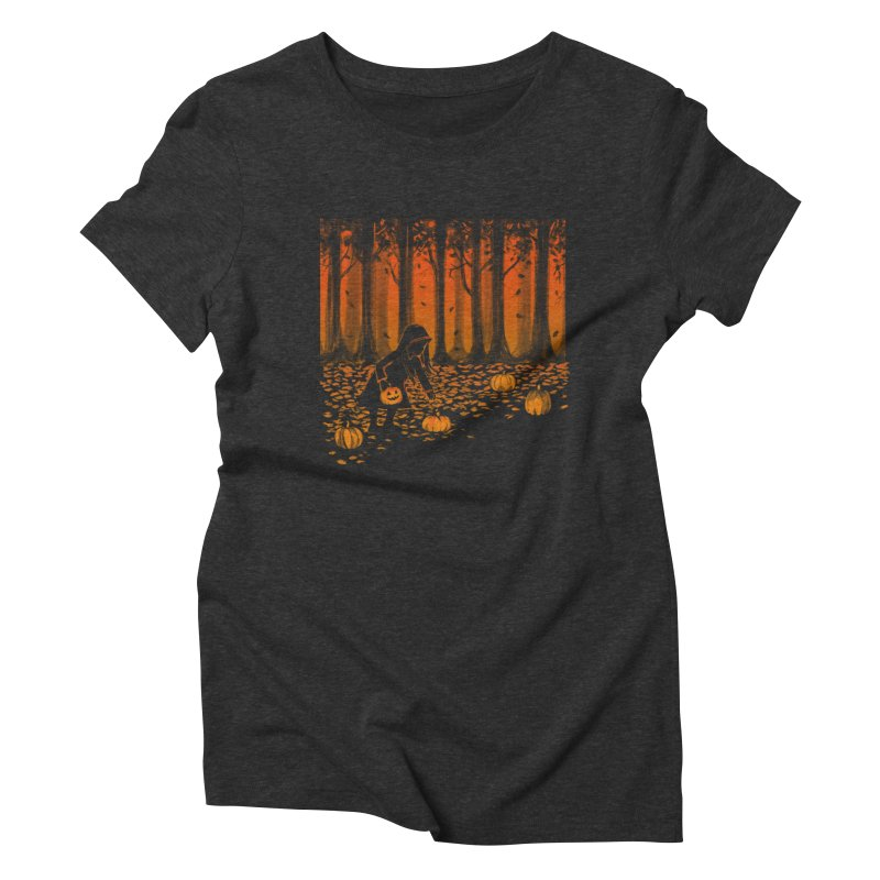 PICKIN' PUMPKIN Women's Triblend T-Shirt by Winterglaze's Artist Shop