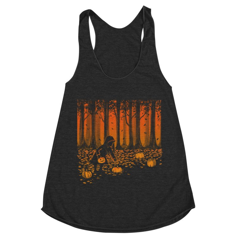 PICKIN' PUMPKIN Women's Racerback Triblend Tank by Winterglaze's Artist Shop