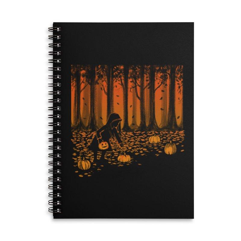 PICKIN' PUMPKIN Accessories Lined Spiral Notebook by Winterglaze's Artist Shop