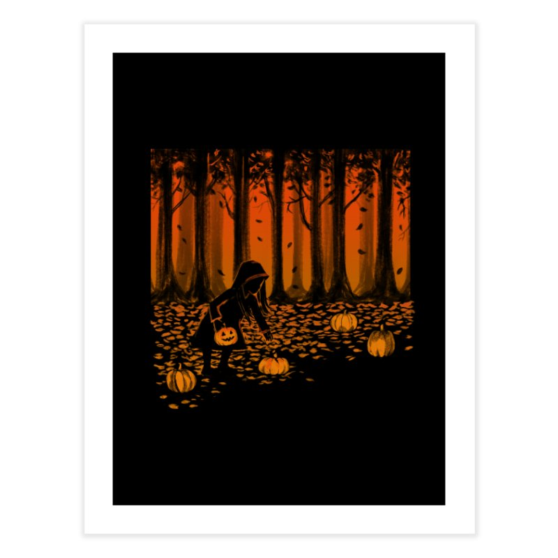 PICKIN' PUMPKIN Home Fine Art Print by Winterglaze's Artist Shop