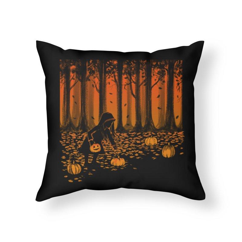 PICKIN' PUMPKIN Home Throw Pillow by Winterglaze's Artist Shop