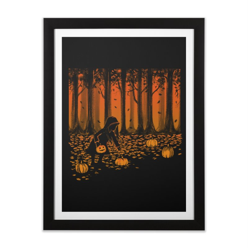 PICKIN' PUMPKIN Home Framed Fine Art Print by Winterglaze's Artist Shop