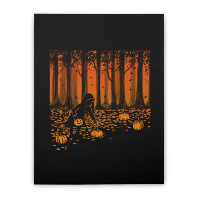 PICKIN' PUMPKIN Home Stretched Canvas by Winterglaze's Artist Shop