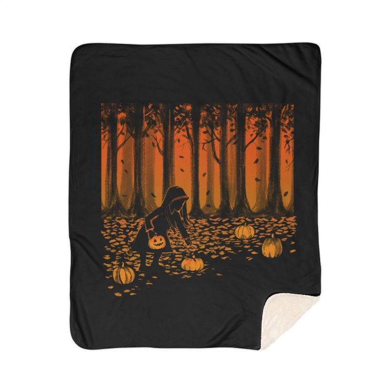 PICKIN' PUMPKIN Home Sherpa Blanket Blanket by Winterglaze's Artist Shop
