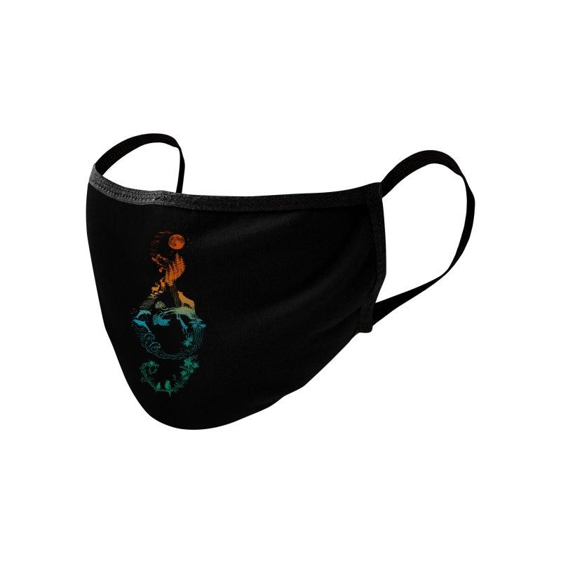 SOUND OF NATURE Accessories Face Mask by Winterglaze's Artist Shop
