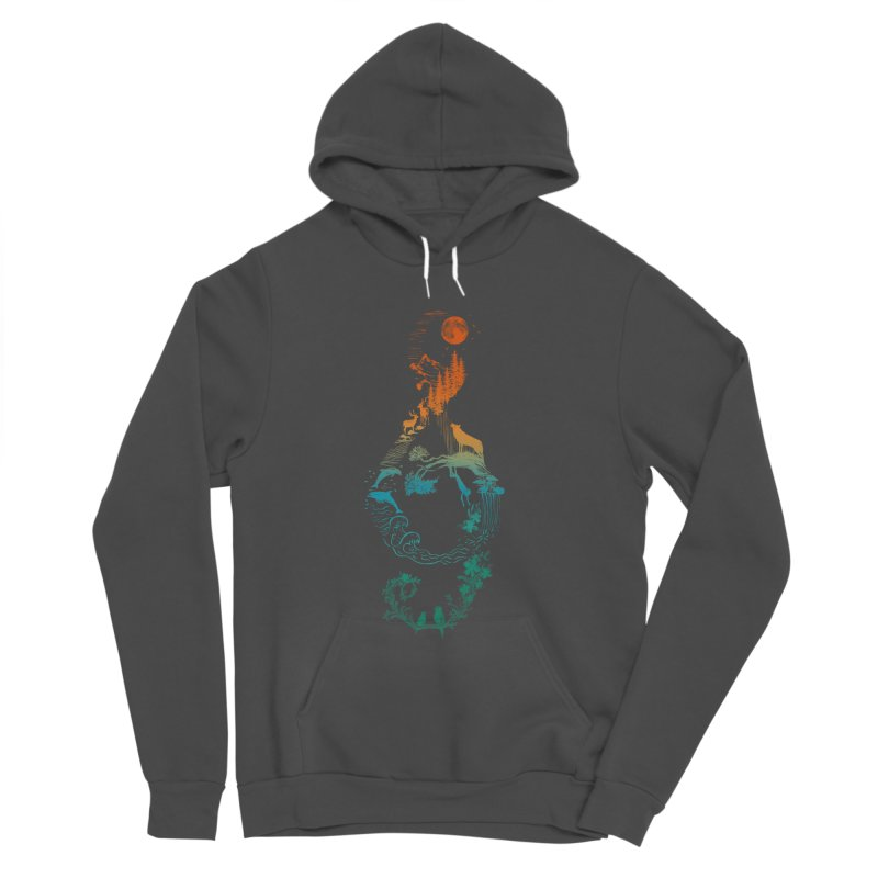 SOUND OF NATURE Men's Sponge Fleece Pullover Hoody by Winterglaze's Artist Shop
