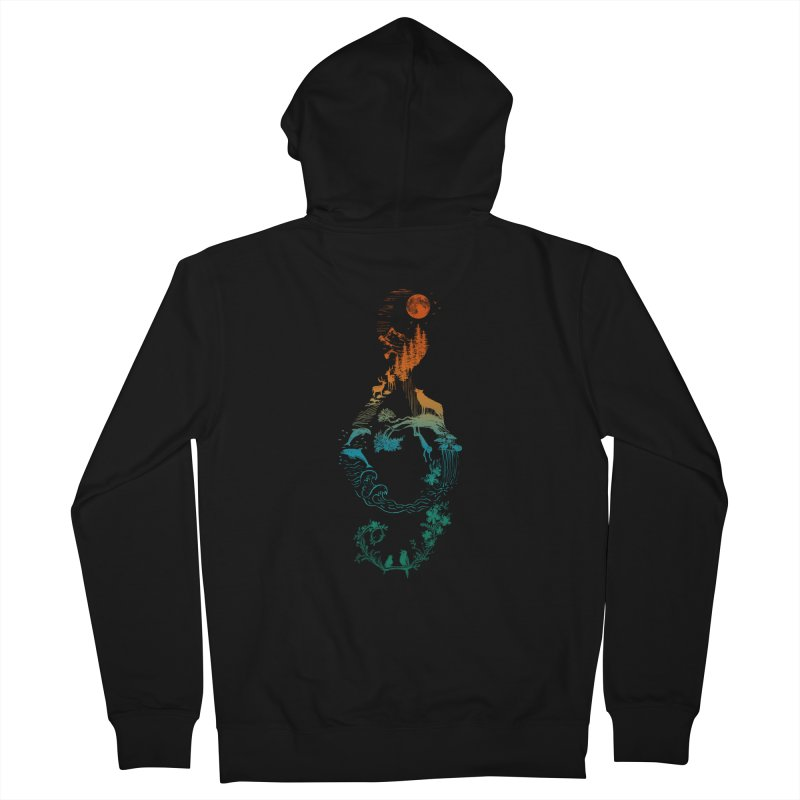 SOUND OF NATURE Men's French Terry Zip-Up Hoody by Winterglaze's Artist Shop