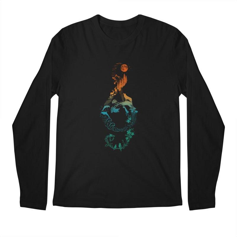 SOUND OF NATURE Men's Longsleeve T-Shirt by Winterglaze's Artist Shop