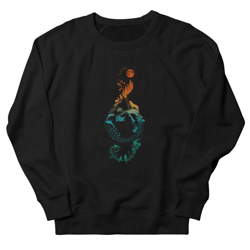 SOUND OF NATURE Men's French Terry Sweatshirt by Winterglaze's Artist Shop