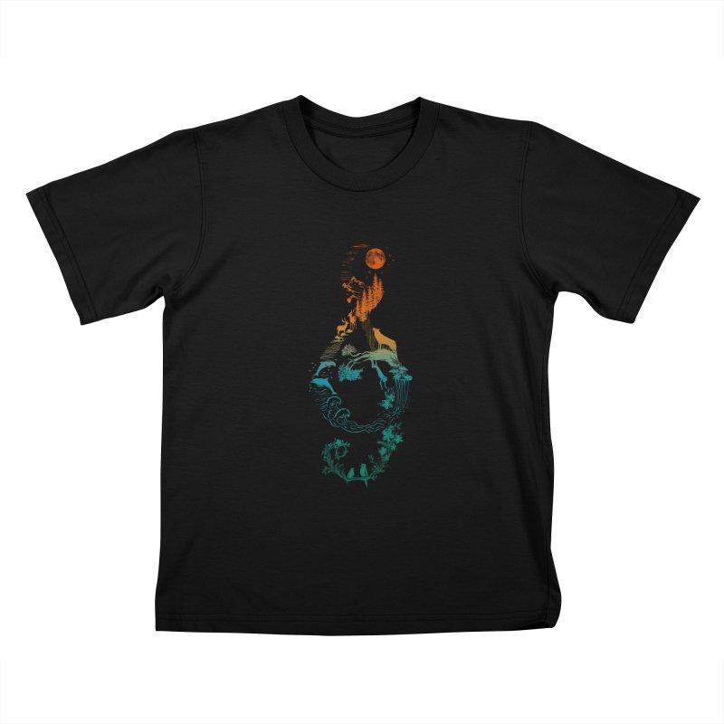 SOUND OF NATURE Kids T-Shirt by Winterglaze's Artist Shop