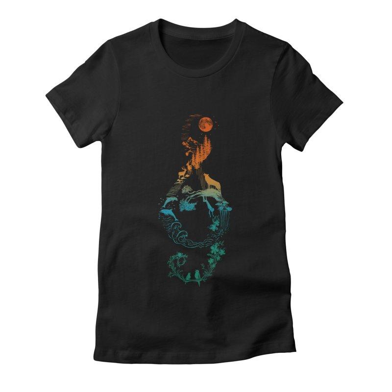 SOUND OF NATURE Women's T-Shirt by Winterglaze's Artist Shop