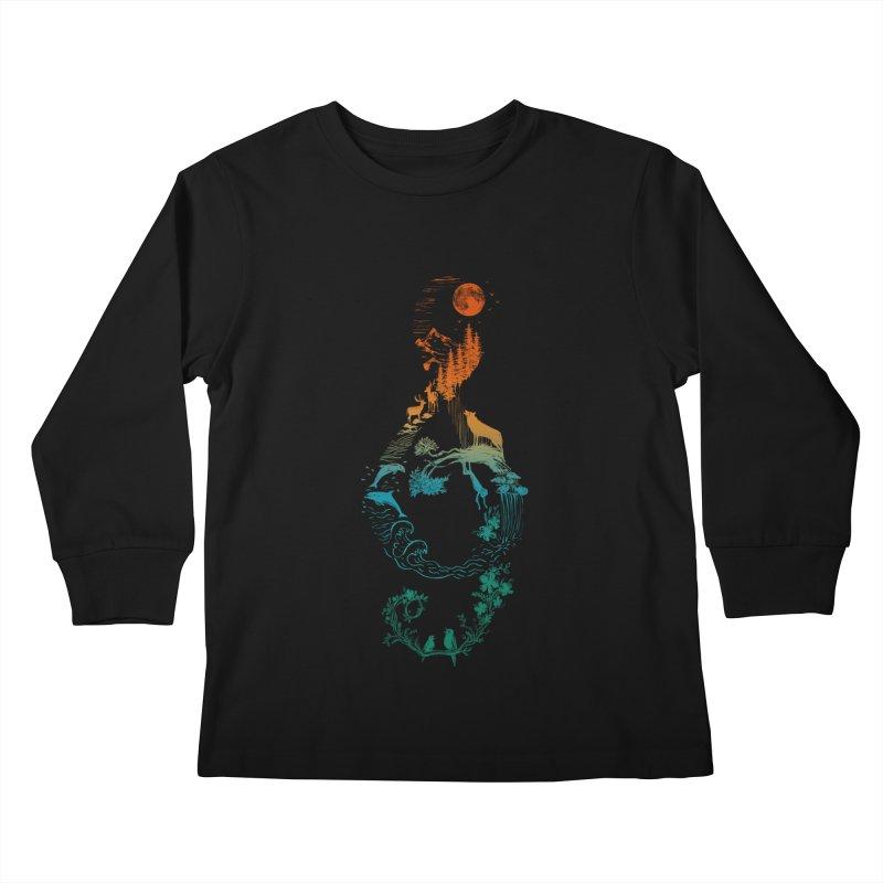 SOUND OF NATURE Kids Longsleeve T-Shirt by Winterglaze's Artist Shop