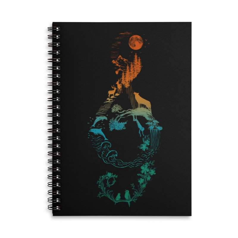 SOUND OF NATURE Accessories Lined Spiral Notebook by Winterglaze's Artist Shop