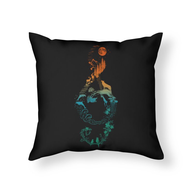 SOUND OF NATURE Home Throw Pillow by Winterglaze's Artist Shop