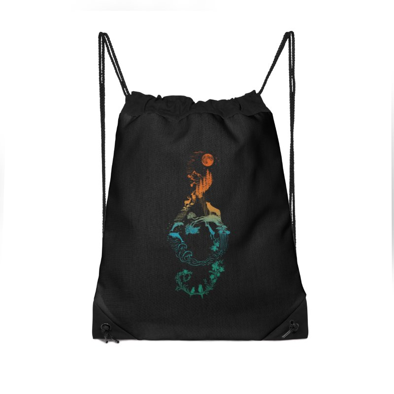 SOUND OF NATURE Accessories Drawstring Bag Bag by Winterglaze's Artist Shop