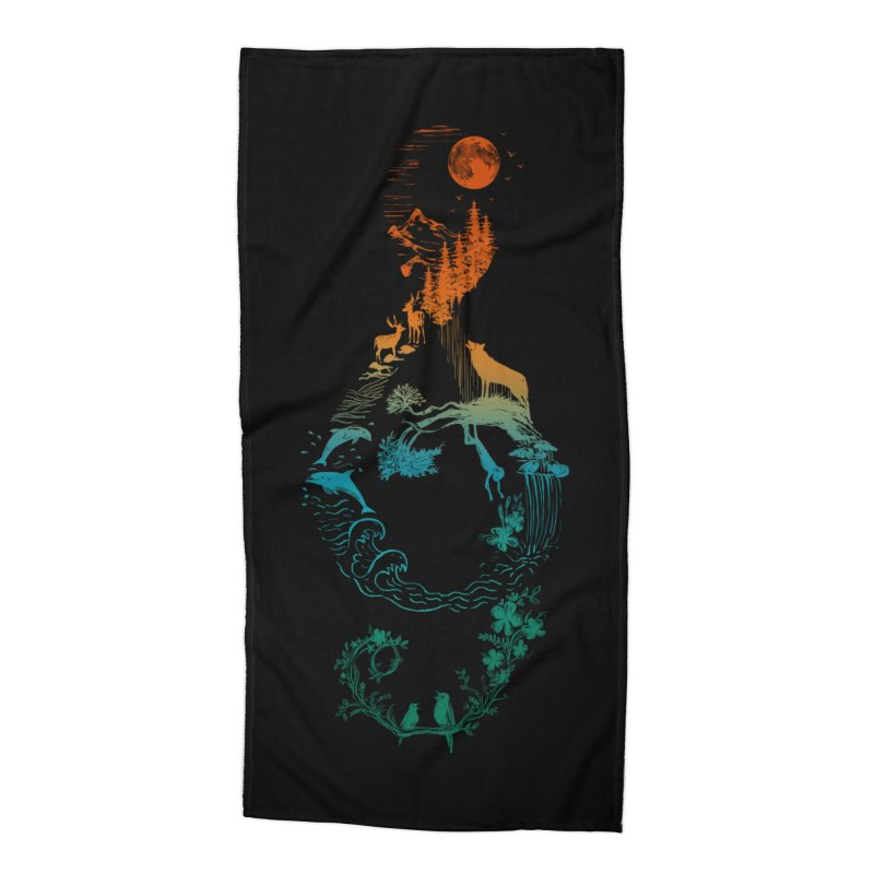 SOUND OF NATURE Accessories Beach Towel by Winterglaze's Artist Shop