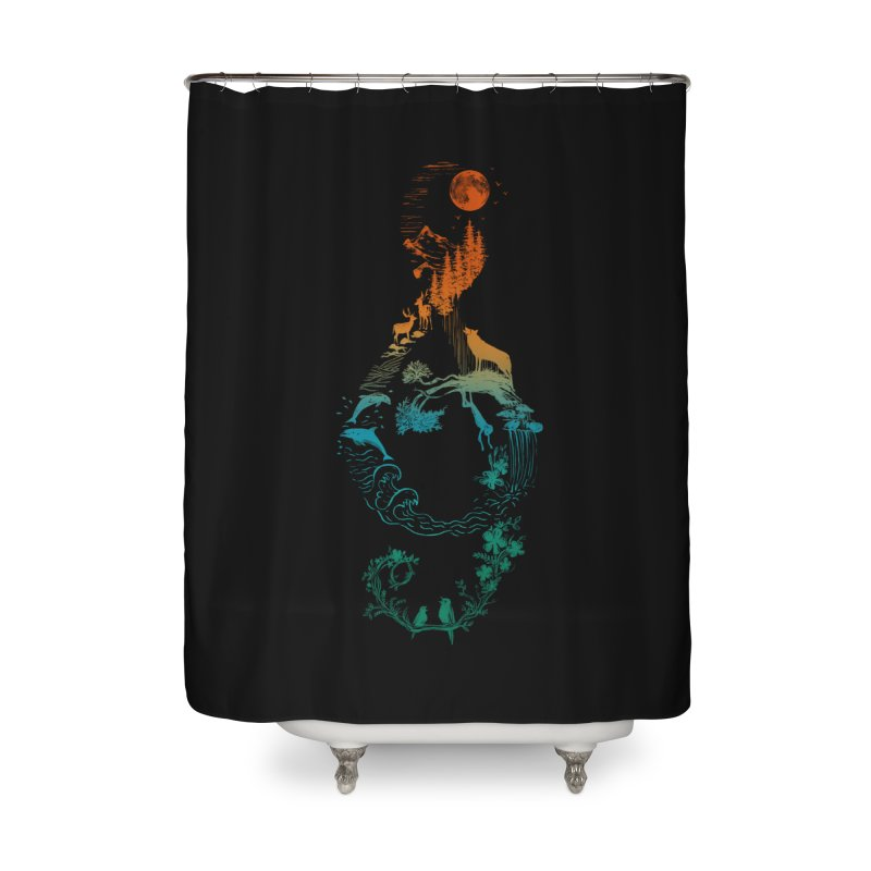 SOUND OF NATURE Home Shower Curtain by Winterglaze's Artist Shop