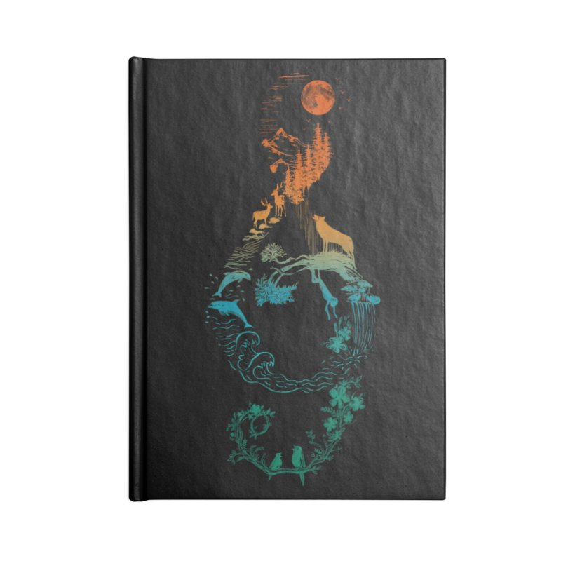 SOUND OF NATURE Accessories Notebook by Winterglaze's Artist Shop