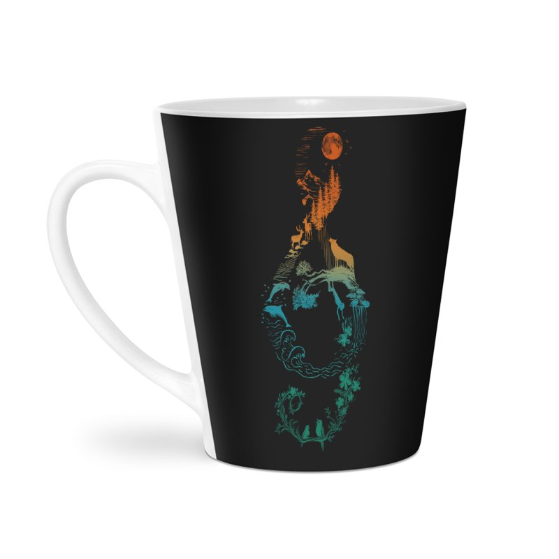 SOUND OF NATURE Accessories Latte Mug by Winterglaze's Artist Shop