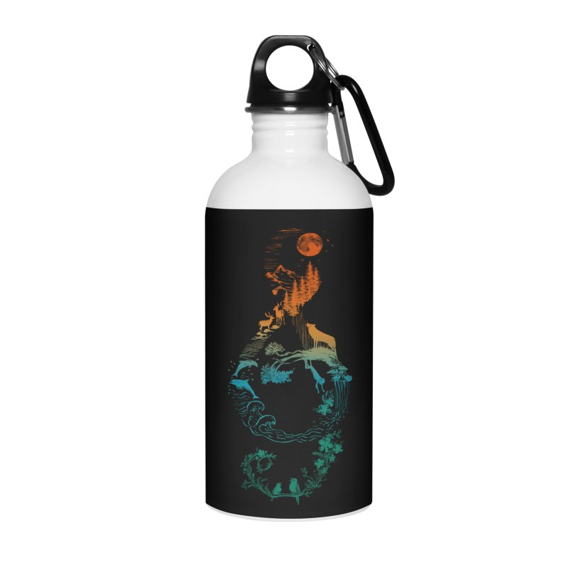 SOUND OF NATURE Accessories Water Bottle by Winterglaze's Artist Shop
