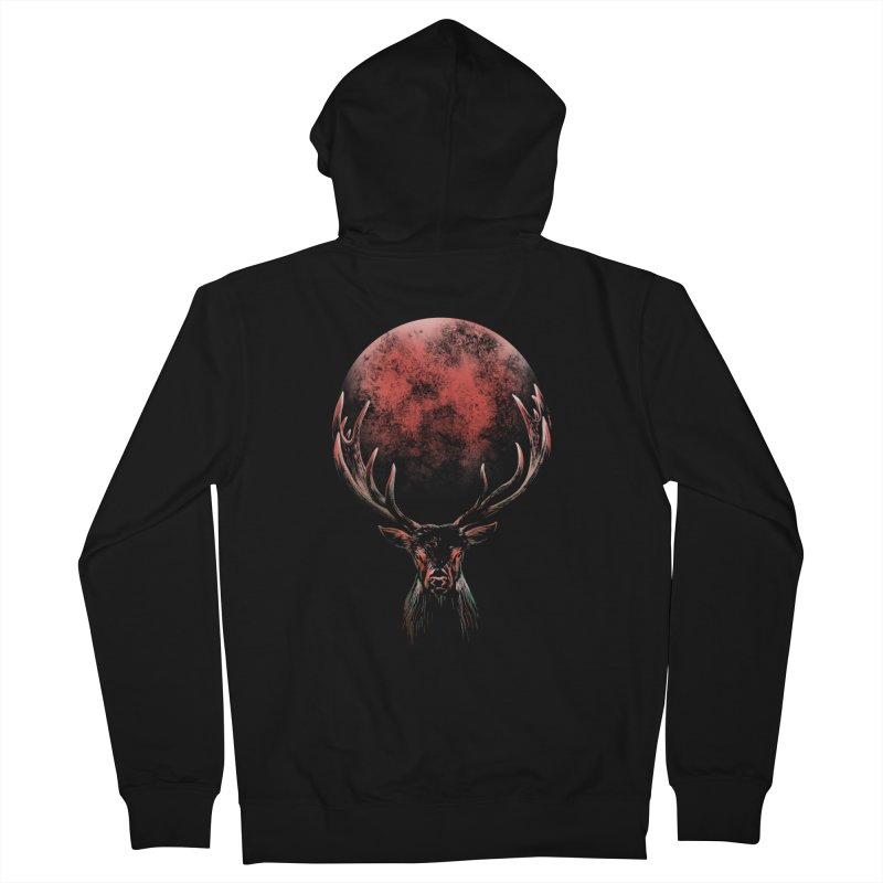 FULL MOON Women's French Terry Zip-Up Hoody by Winterglaze's Artist Shop