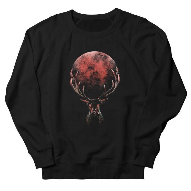 FULL MOON Women's French Terry Sweatshirt by Winterglaze's Artist Shop