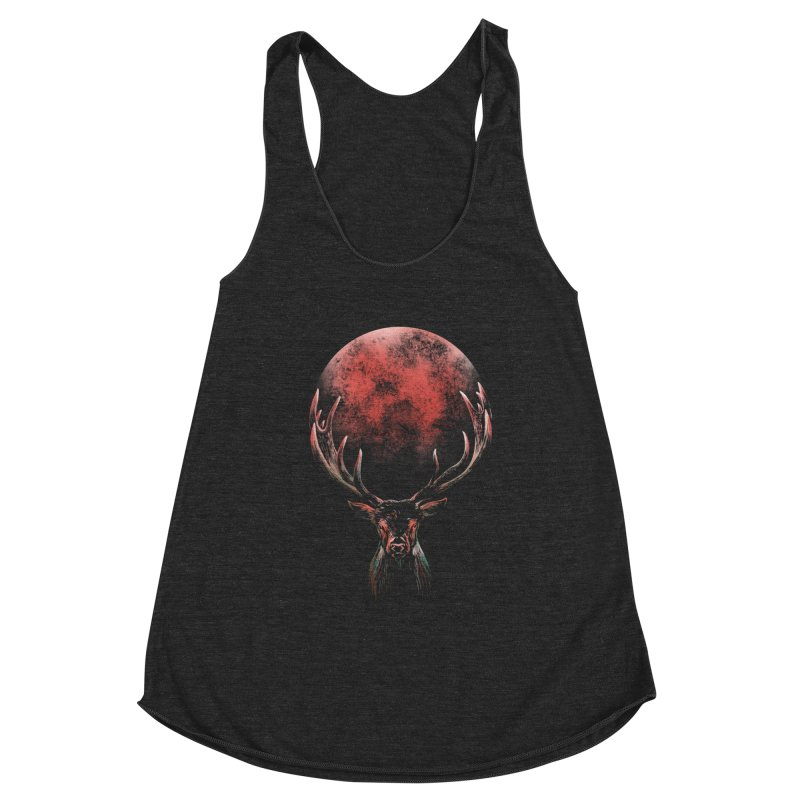 FULL MOON Women's Racerback Triblend Tank by Winterglaze's Artist Shop