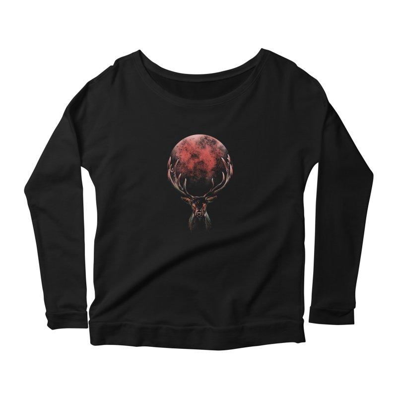 FULL MOON Women's Longsleeve T-Shirt by Winterglaze's Artist Shop