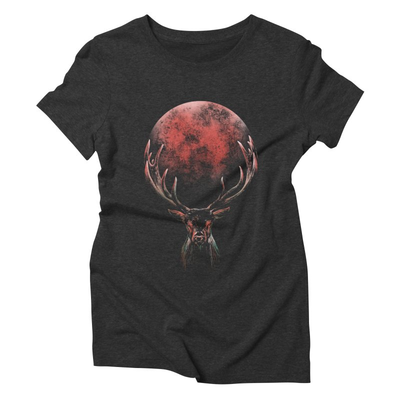 FULL MOON Women's Triblend T-Shirt by Winterglaze's Artist Shop