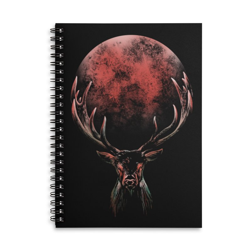 FULL MOON Accessories Lined Spiral Notebook by Winterglaze's Artist Shop