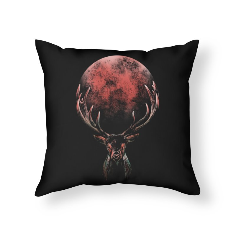 FULL MOON Home Throw Pillow by Winterglaze's Artist Shop