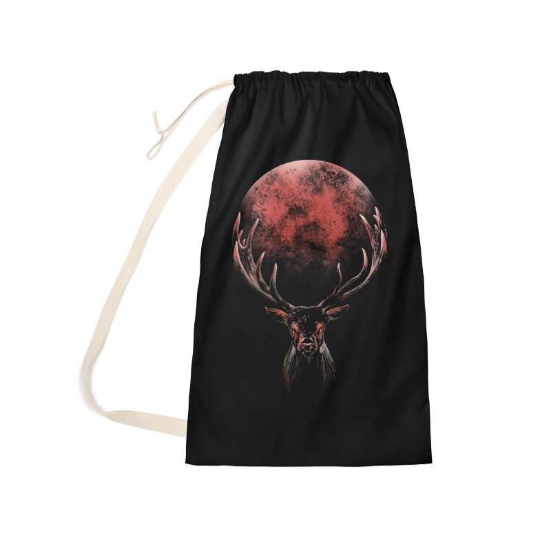 FULL MOON Accessories Laundry Bag Bag by Winterglaze's Artist Shop