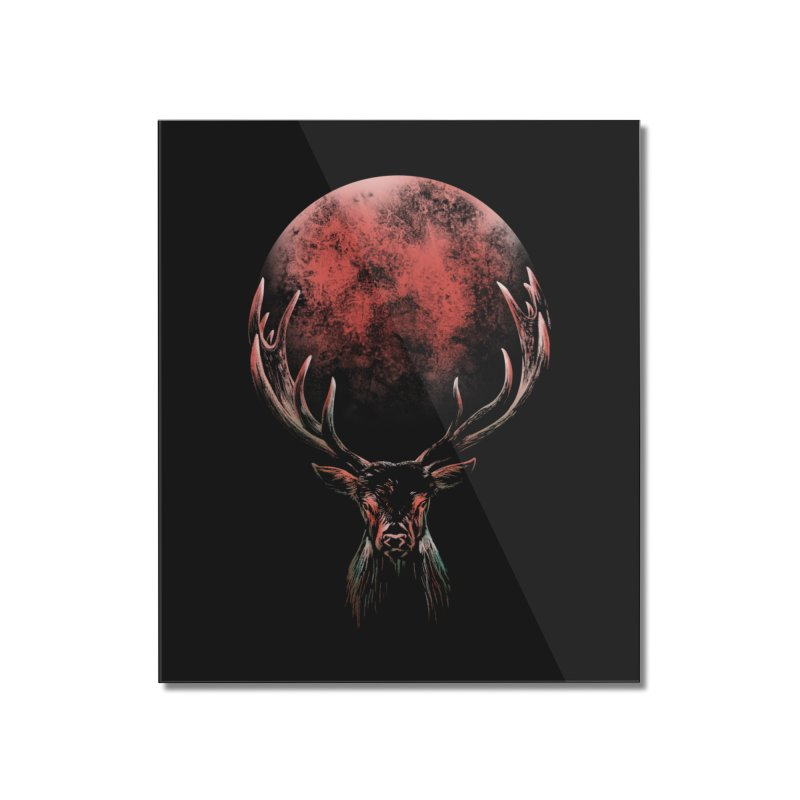 FULL MOON Home Mounted Acrylic Print by Winterglaze's Artist Shop
