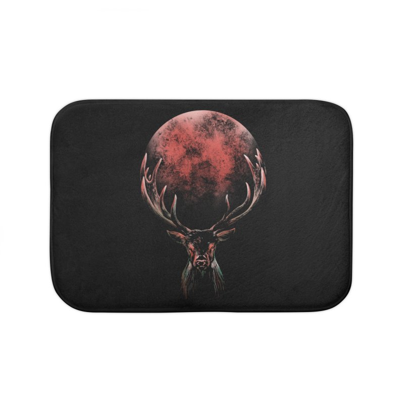 FULL MOON Home Bath Mat by Winterglaze's Artist Shop