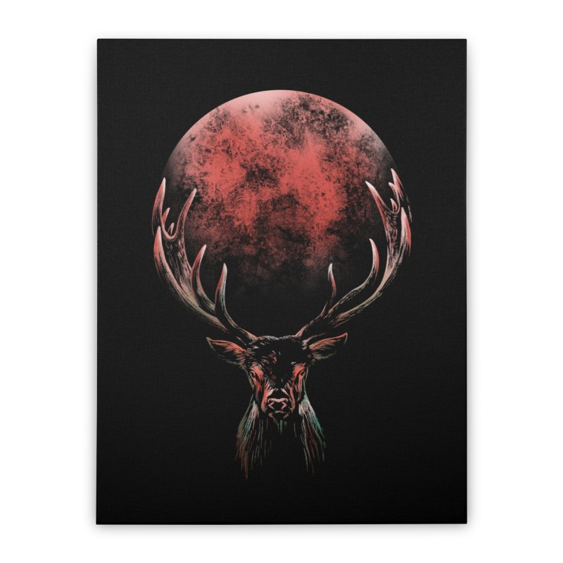 FULL MOON Home Stretched Canvas by Winterglaze's Artist Shop