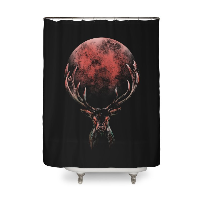 FULL MOON Home Shower Curtain by Winterglaze's Artist Shop