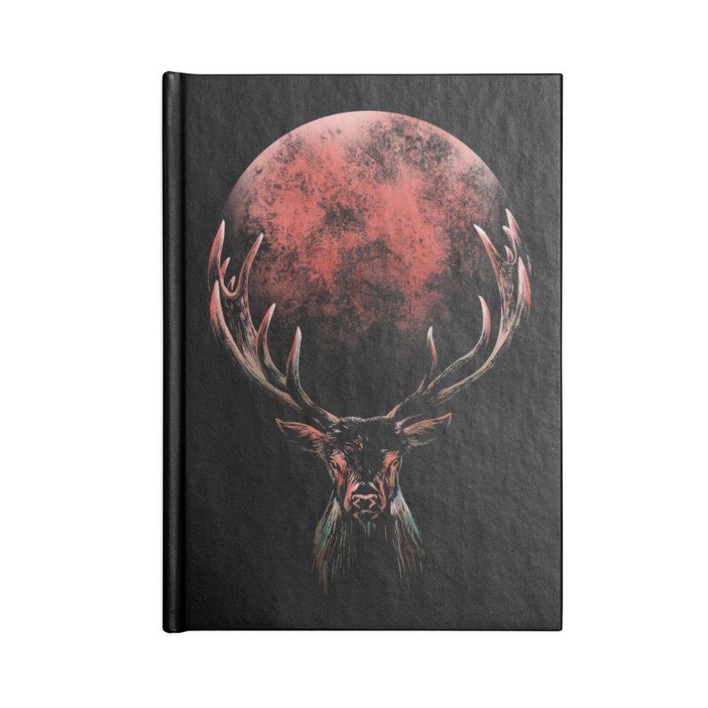 FULL MOON Accessories Blank Journal Notebook by Winterglaze's Artist Shop