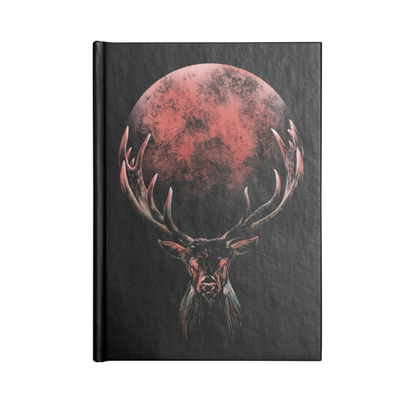FULL MOON Accessories Lined Journal Notebook by Winterglaze's Artist Shop