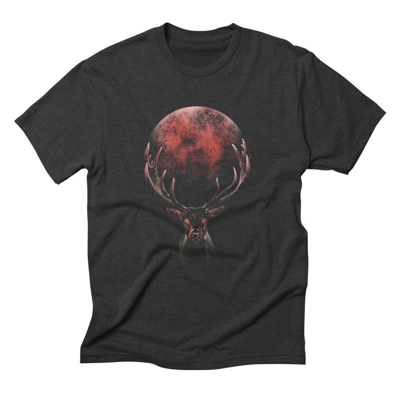 FULL MOON Men's Triblend T-Shirt by Winterglaze's Artist Shop