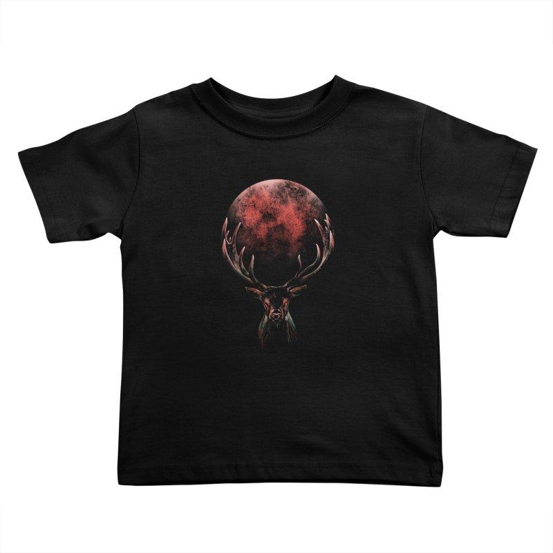 FULL MOON Kids Toddler T-Shirt by Winterglaze's Artist Shop