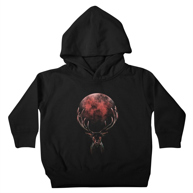 FULL MOON Kids Toddler Pullover Hoody by Winterglaze's Artist Shop
