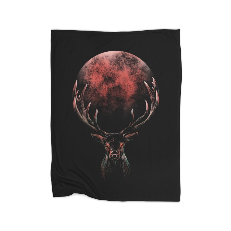 FULL MOON Home Fleece Blanket Blanket by Winterglaze's Artist Shop